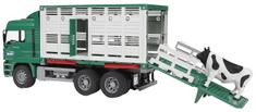 Bruder kamion za prijevoz životinja, 52 cm, 02749