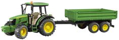 Bruder traktor John Deere s prikolico 02108