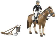 BRUDER Zestaw koń, jeździec i akcesoria