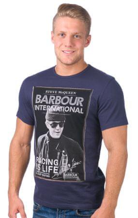 Barbour pánské tričko L modrá