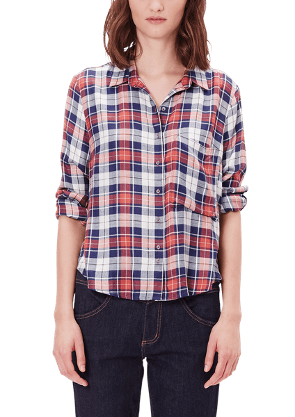 s.Oliver dámská kostkovaná košile 34 červená