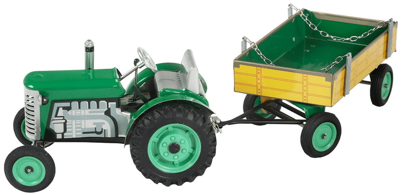 KOVAP Traktor Zetor s valníkem na klíček zelený