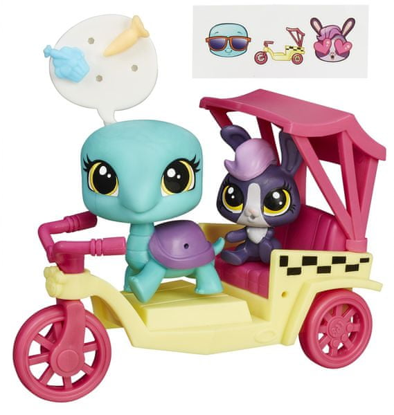 Littlest Pet Shop Zvířátko s kamarádem a vozidlem turtle and bunny