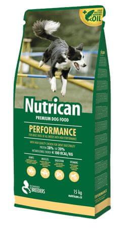 Nutrican hrana za aktivne pse Performance, 15 kg
