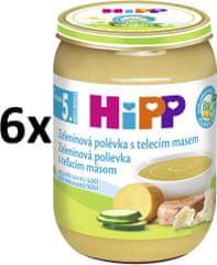 HiPP Zeleninová polévka s telecím masem - 6x190g