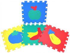 Teddies BABY Pěnové puzzle Ovoce 30x30cm