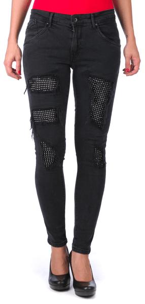 Pepe Jeans dámské jeansy Crystal 30/30 černá