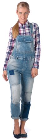 Pepe Jeans kombinezon damski Billie L niebieski