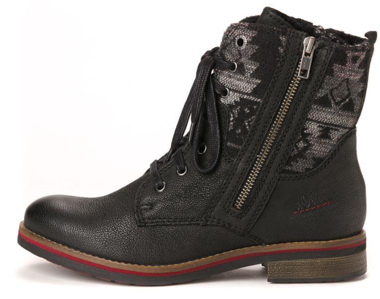 s.Oliver dámská kotníčková obuv 41 černá