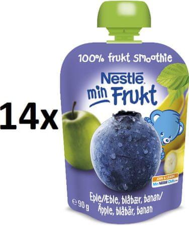 Nestlé Min Frukt Čučoriedka 14x90g