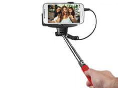 SBS teleskopski selfie stick, crveni