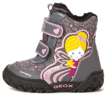 Geox dívčí kotníčková obuv 23 šedá