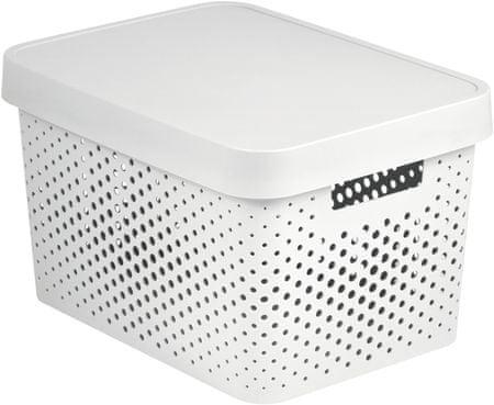 Curver škatla za shranjevanje z luknjicami in pokrovom Infinity, 17 l, bela