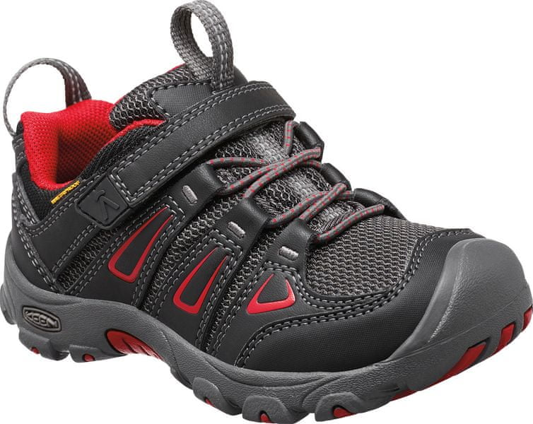 KEEN Oakridge Low WP Jr black/tango 37