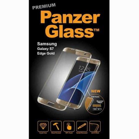 PanzerGlass premium zaščitno steklo Samsung Galaxy S7 Edge, zlato