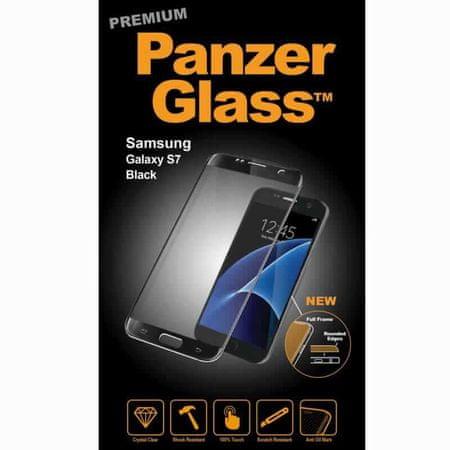 PanzerGlass premium zaščitno steklo Samsung Galaxy S7, črno