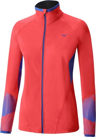 Mizuno Breath Thermo Softshell Jacket Fiery Coral/Dazzling Blue S