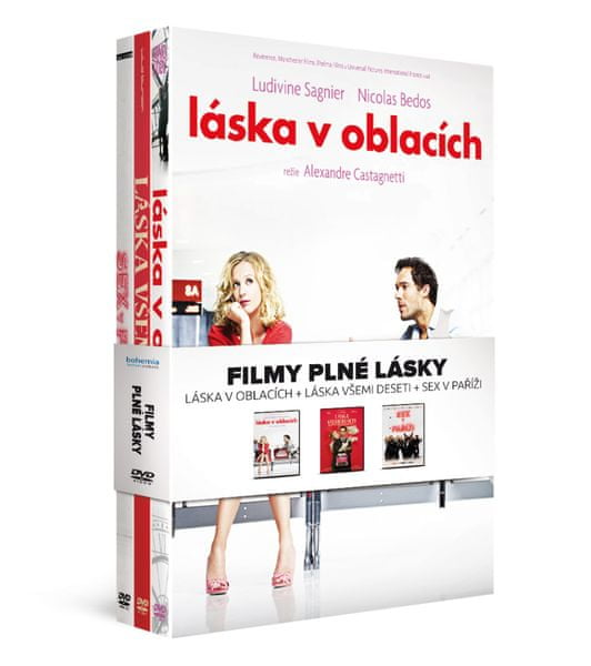 Filmy plné lásky (3DVD): Láska v oblacích + Láska všemi deseti + Sex v Paříži - DVD