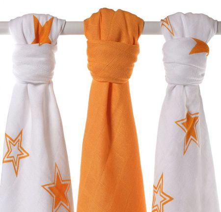 XKKO Bambusové pleny Stars 70x70 cm - Orange MIX