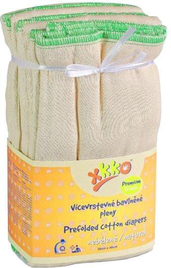 Kikko Skládané bavlněné pleny Natural - Premium