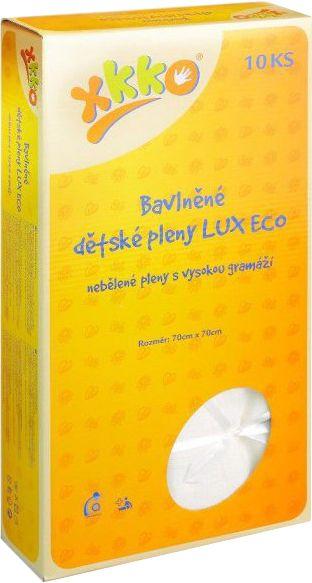 XKKO Bavlněné pleny LUX ECO 70x70 cm - 10 ks