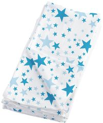 Bambinomio Mušelínové plienky Blue Stars - 4ks