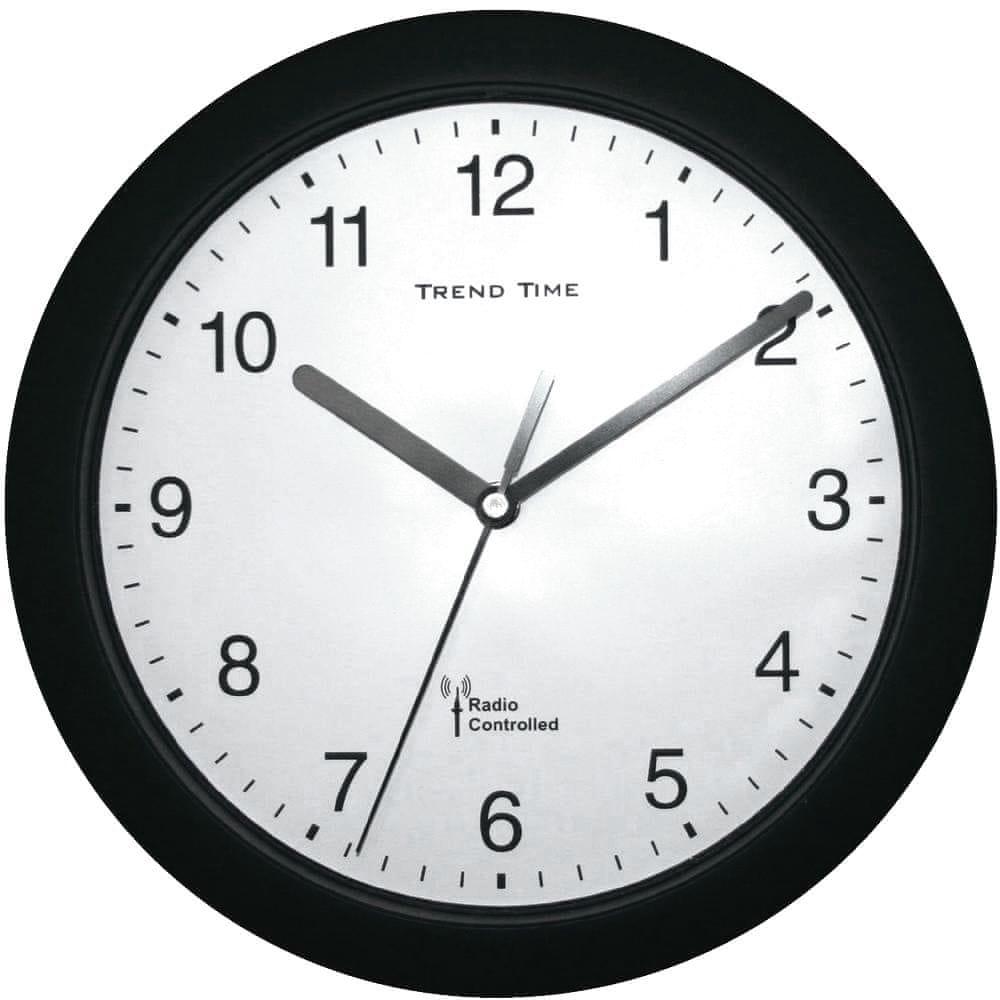 Conrad Analogové nástěnné DCF hodiny 25 cm, černá
