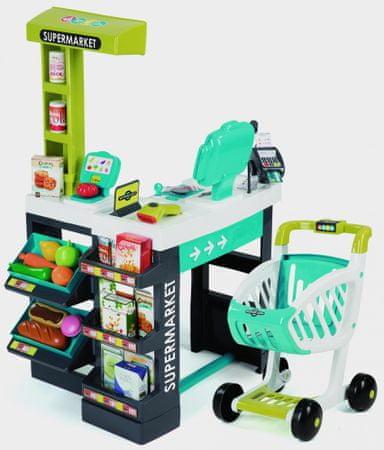 Smoby supermarket, plavo zeleni