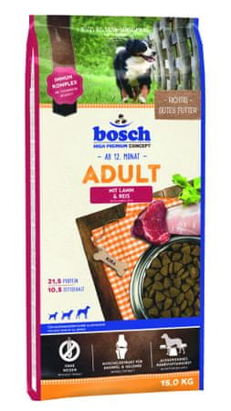 Bosch Adult Lamb & Rice kutyatáp, 15 kg
