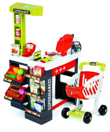Smoby Szupermarket pénztár, Piros/Zöld