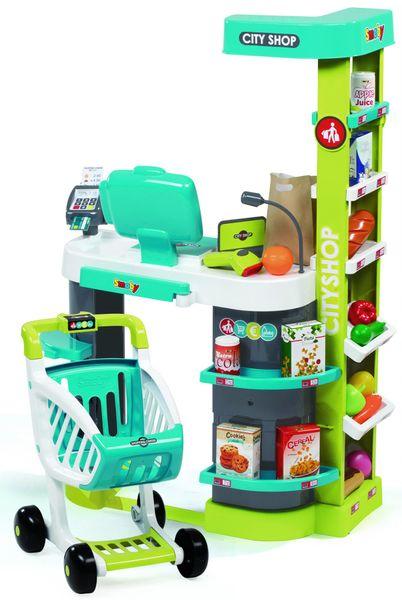 Smoby Obchod City Shop modro-zelený - II. jakost