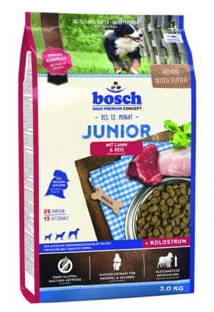 Bosch hrana za pasje mladičke Junior, jagnjetina in riž, 3 kg (nova receptura)