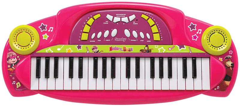 Smoby Elektrické klávesy Máša a medvěd