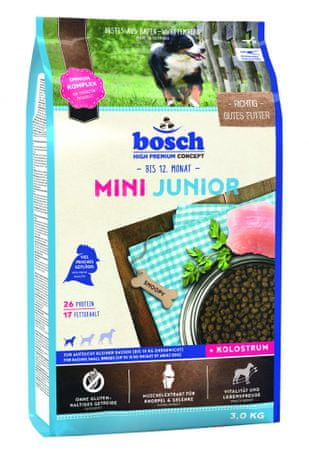 Bosch Mini Junior Kutyatáp, 3 kg