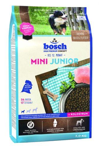 bosch hrana za pasje mladi e majhnih pasem mini junior 3 kg nova receptura mimovrste. Black Bedroom Furniture Sets. Home Design Ideas