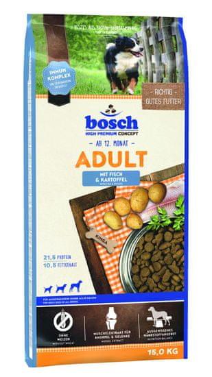 Bosch hrana za odrasle pse, riba in krompir, 15 kg (nova receptura)