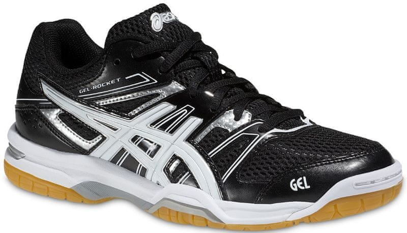 Asics Gel-Rocket 7 Black/White/Silver 45