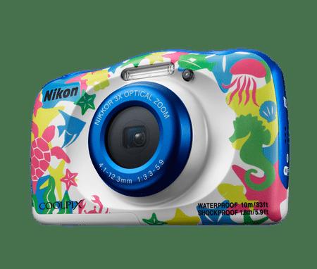 Nikon digitalni fotoaparat W100, podvodni, belo-moder