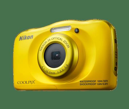 Nikon digitalni fotoaparat W100, podvodni, rumen