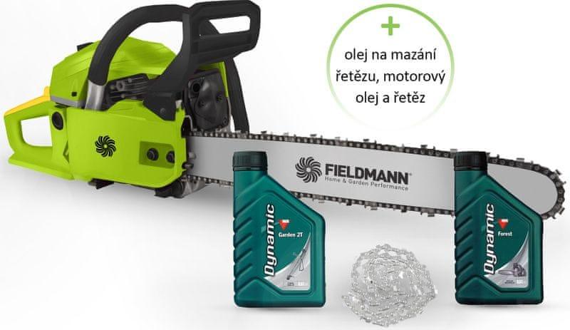 Fieldmann FZP 4516-B + motorový olej, olej na mazání řetězu a řetěz