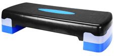 Avenio telovadna klop za aerobiko/step, 10-15 cm, modro-črna