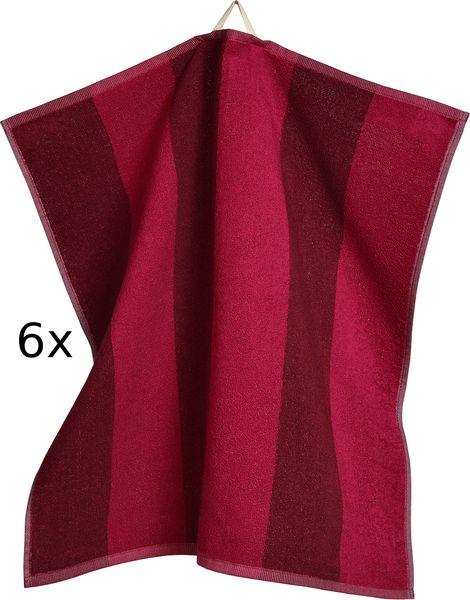 Sander set utěrek froté Stripe 50x50 cm červená 6 ks