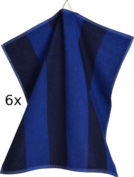 Sander set utěrek froté Stripe 50x50 cm modrá 6 ks