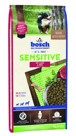 Bosch Sensitive Lamb & Rice Kutyatáp, 15 kg
