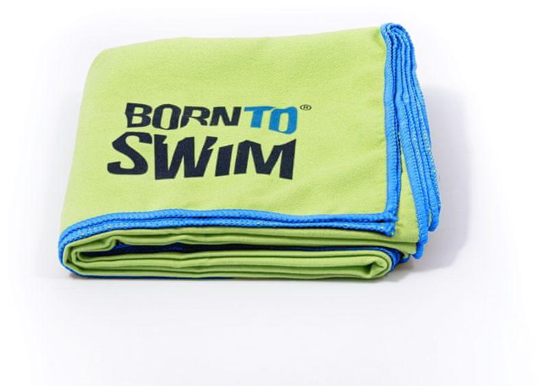 Born To Swim Rychleschnoucí ručník z mikrovlákna - zeleny (70x140 cm)