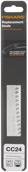 Fiskars Nadomestno rezilo CC24 za vrtno žago, ukrivljena, z debelejšimi zobmi (123246)