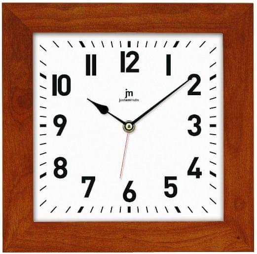 Lowell Nástěnné hodiny 21035N tmavě hnědá