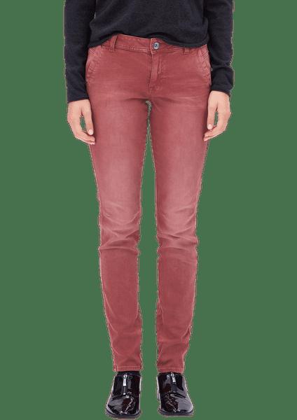 s.Oliver dámské kalhoty 34/34 vínová