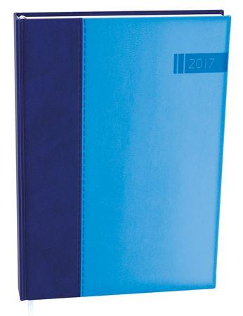 Diář denní David Kombi A5 modro-modrý