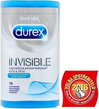 Durex kondomi Invisible Extra Sensitive 10 kosov